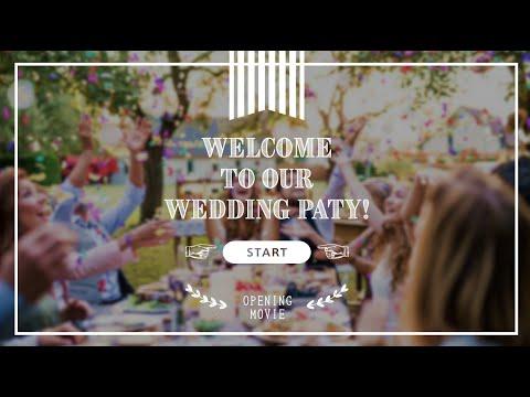 簡単に結婚式オープニングムービーがつくれます 今ならプロフィールブックプレゼント!オープニング(サイト風) イメージ1