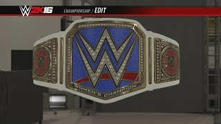 Becky Lynch's WWE Smackdown Women's Championship Side Plates WWE 2K16 Creations Custom Championship