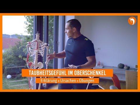 Taubheitsgefühl im Oberschenkel  🔸 Erklärung / Ursachen / Übungen