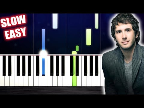 Josh Groban - You Raise Me Up - SLOW EASY Piano Tutorial by PlutaX