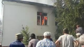 Пожар в Рутуле,сгорела районная администрация