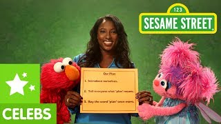 Sesame Street: Rutina Wesley and Elmo make a Plan