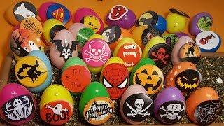 HOO ! HOO !  Halloween surprise eggs spooky  ! HOO ! HOO !