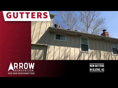 Seamless 5 Inch Gutters Installed on Olathe, KS Home