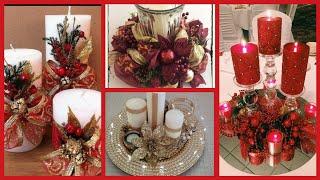 Beautiful Christmas Candles Centerpieces Decoration Ideas