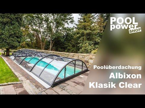 Poolüberdachung Albixon Klasik Clear 860 x 471 x 130 cm