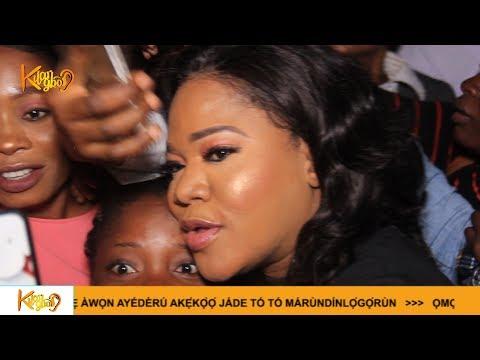 Toyin Abraham and husband receives joyous huge Crowd In Abeokuta