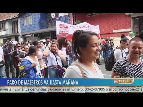 Maestros en Medellin tambien se unieron al paro nacional [Noticias] - Telemedellin