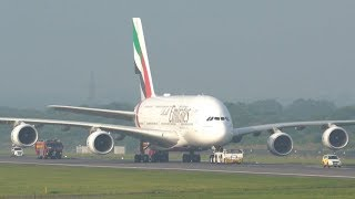 Emirates A380 Returns To Gate After Emergency Landing at Manchester Airport
