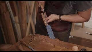 Making a Knife Handle from Albizia