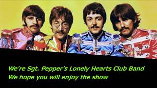 Sgt  Pepper's Lonely Hearts Club Band  The Beatles  Lyrics Cover