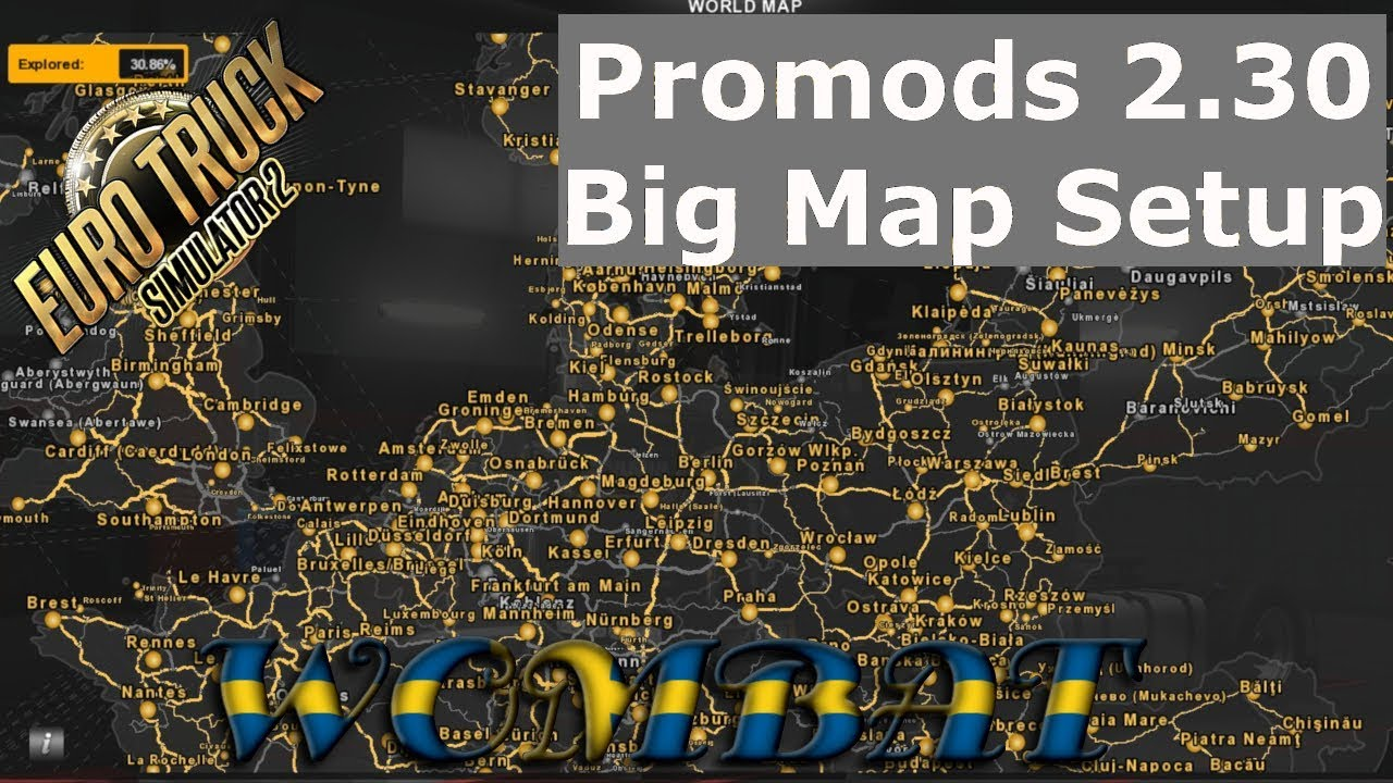 Download ETS2 1 31 - Promods 2 30 and the big map setup