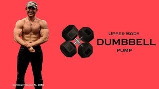 SAVAGE PUMP - Upper Body Weights Workout Routine with Dumbbells At Home by Coach Ali Fitness