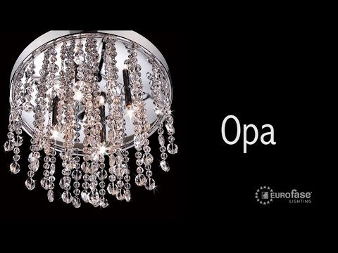 Video for Opa Chrome Four-Light 10.25-Inch Wide Convertible Round Mini Pendant with Clear Crystal