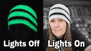 Easy Crochet Beanie For Beginners   Lion Brand DIY Glow Yarn   Crochet Hats