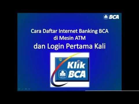 Video Cara daftar Internet Banking BCA KlikBCA di mesin ATM