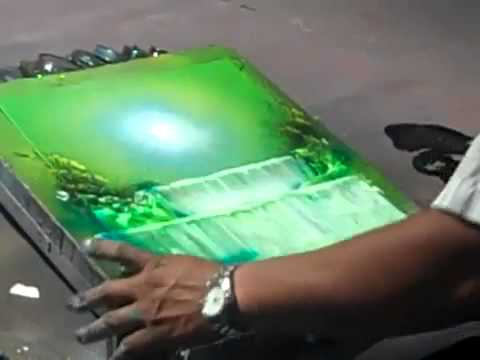 spray speed painting waterfall