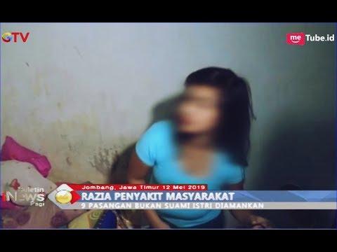 9 Pasangan Ilegal Ditangkap saat Mesum dalam Hotel Melati di Jombang - BIP 13/05