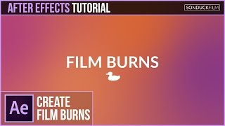 After Effects Tutorial: Gradient FILM BURN Animation