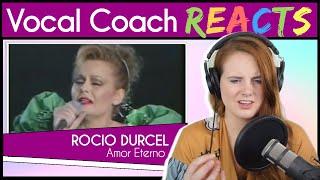 Vocal Coach reacts to Rocio Durcal - Amor Eterno (Live)