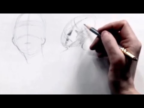 Excerpt of a drawing lesson about drawing heads and faces.