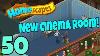 HOMESCAPES - Gameplay Walkthrough Part 50 - New Cinema Area and Library Area Day 4