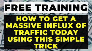How to INCREASE website traffic to your Website for FREE [Get Traffic in MINUTES with these TIPS]