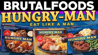 Come take a relaxing journey through 3 Hungry-Man frozen TV Dinners, with Ian as your guide. Tasty. KID CUISINE REVIEW: https://www.youtube.com/watch?v=Kf0EpG-xsyU LUNCHABLES REVIEW: https://www.youtube.com/watch?v=88l41TVd6wQ ♥ You should subscribe! » http://tinyurl.com/itsmoosetime ♥  Become a Patron » http://www.patreon.com/brutalmoose  SOCIAL NETWORKS http://www.twitter.com/brutalmoose http://www.facebook.com/brutalmoose http://www.brutalmoose.com  Visit our website! » http://hiddenblock.com/