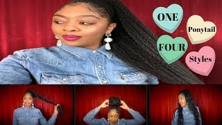 30-inch Drawstring Ponytail for $10 | Easy Valentine's Day Hair