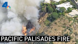 Pacific Palisades Fire Threatens Homes   NBCLA