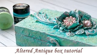 Altered Box With Patina Pastes - Step By Step Tutorial