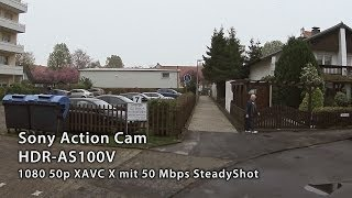 preview picture of video 'Test Sony Action Cam HDR-AS100V in 1080 50p SteadyShot'