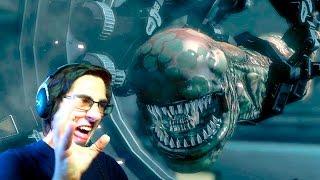 Aliens vs Predator играю за Чужого [миссия 1]