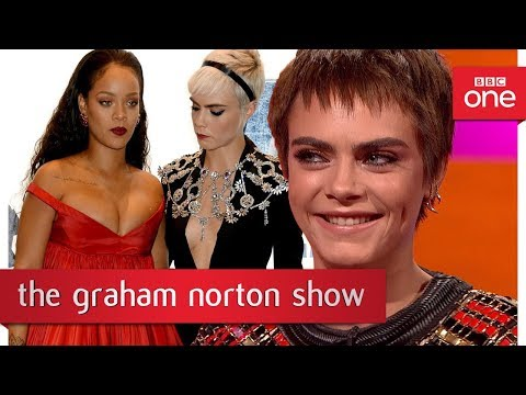Cara Delevingne's funny photo with Rihanna & Emma Thompson -The Graham Norton Show: 2017 - BBC One