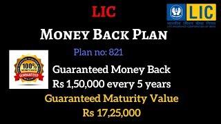 LIC Money Back Policy | Money BacK Plan Table No. 821 | PolicyBazaar Blog