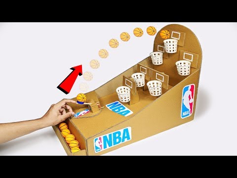 How to make NBA Basketball Board Game from Cardboard DIY at Home for KIDS