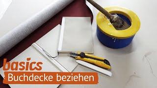 Buchdecke mit Leinen beziehen | Ein Buch binden - Folge 4 | Basics | Heidi Leimt | bookbinding