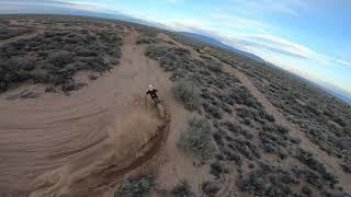 FPV Drone Chasing Motocross Bike