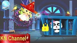 Trò chơi KN Channel BÚP BÊ GIẢI CỨU GẤU CON TRONG LÂU ĐÀI HẮC ÁM TẬP 1 | BÉ TẬP LÀM PHÙ THỦY
