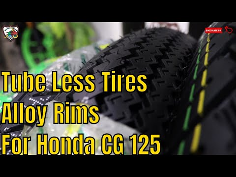 Honda CG 125 Tubeless Tires And Alloy Rims | Bike Mate PK