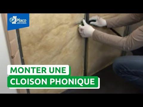 Comment monter une cloison avec la plaque Placo® Phonique ?