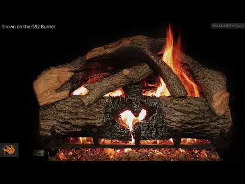 Real Fyre Charred Evergreen Oak Gas Log Set