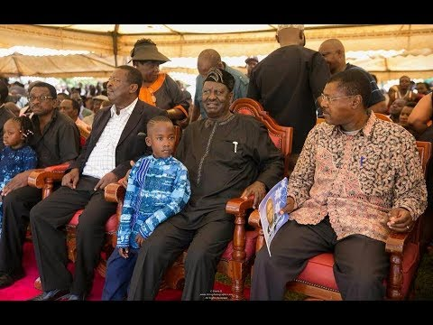 NASA leader Raila Odinga arrives in Siaya for IEBC ICT Manager Chris Msando's burial