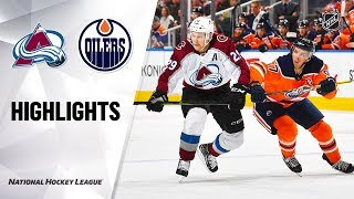 NHL Highlights   Avalanche @ Oilers 11/14/19