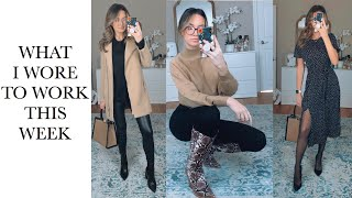 WHAT I WORE TO WORK THIS WEEK | Business Casual Winter Work Outfit Ideas