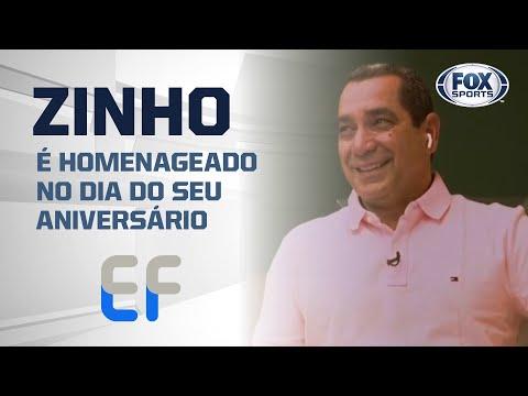 ZINHO É HOMENAGEADO NO DIA DO SEU ANIVERSÁRIO DURANTE O 'EXPEDIENTE FUTEBOL'