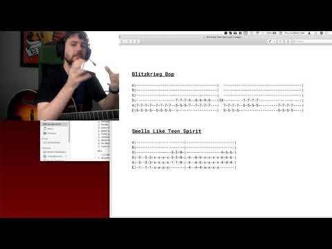 Blitzkrieg Bop and Power Chord tutorial