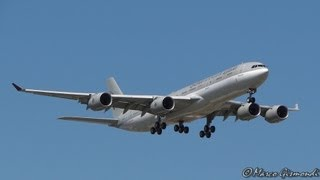 preview picture of video 'Qatar Amir Fly A340-500 [A7-HHH] landing @ Rome Ciampino Airport'