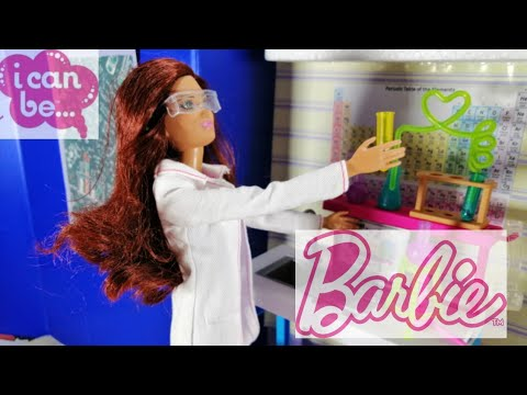 Barbie Careers Scientist doll and Lab Playset Review| DIY Lab in a box