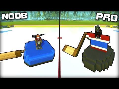 NOOB vs PRO Ice Hockey Challenge! (Scrap Mechanic Gameplay)